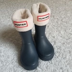Hunter boots with liners navy size 8 / 9
